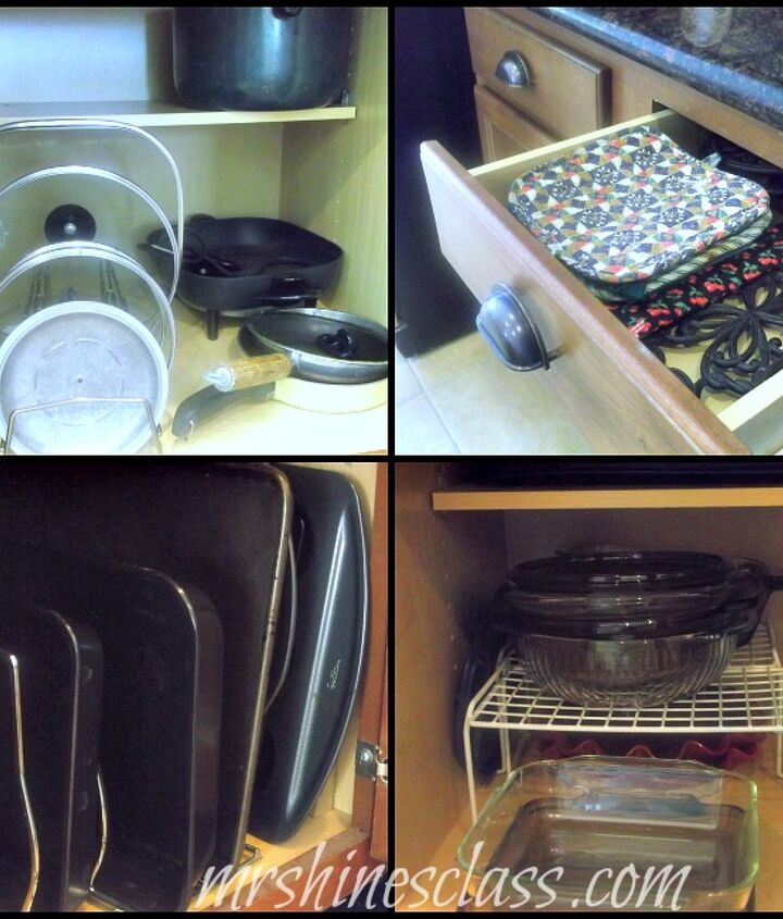 Organizers make better use of your cabinet space.