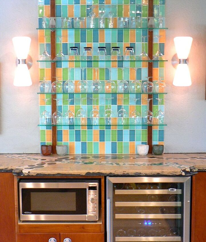 The tile is a custom blend from Clayhaus Ceramics.