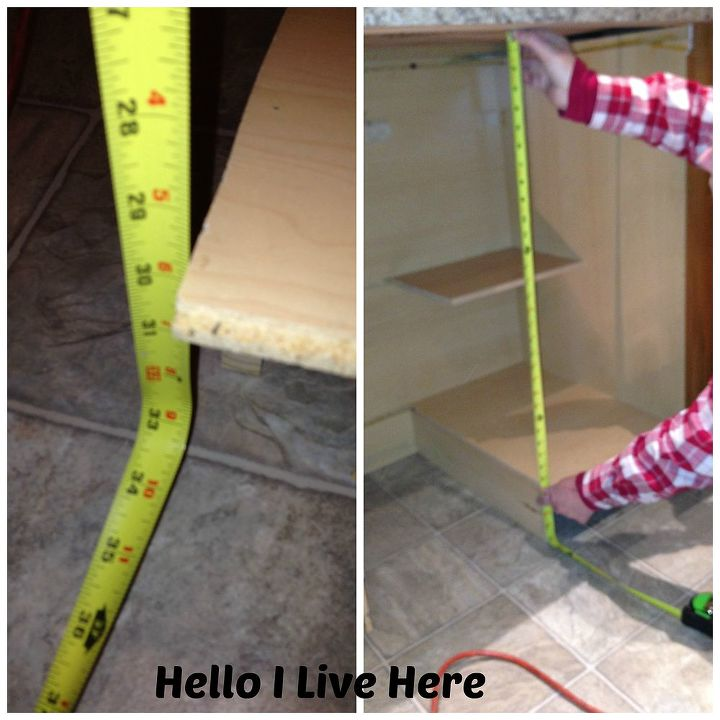 Measuring for side panel height.