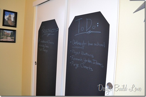 Chalkboard Closet Doors Use To Organize Your Schedule Hometalk