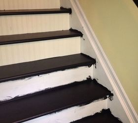 Interior Stairs Makeover, Stairs, Four Coats Of Porch And Floor Paint Three  Coats Of