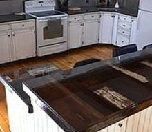 shabby chic kitchen makeover, home decor, home improvement, kitchen backsplash, kitchen design, kitchen island, shabby chic, Another fabulous shot of the finished countertops