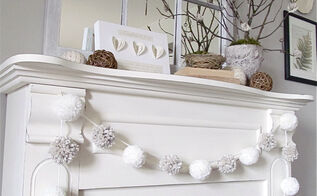 my winter mantel, seasonal holiday decor, The finished product