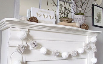 my winter mantel, seasonal holiday decor, The finished product