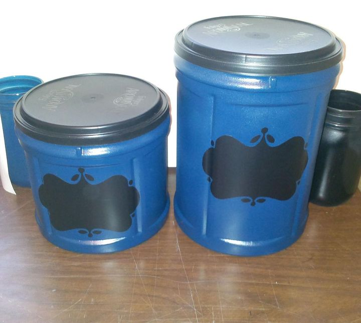 recycled plastic coffee containers, repurposing upcycling