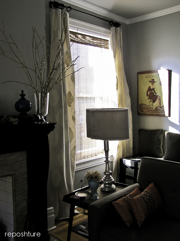 easy stamped curtains, home decor, painting