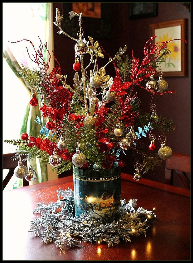 Boy Scout Tin Can Table Center Piece for Christmas!