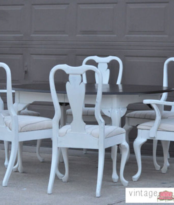 Shabby Chic White Dining Table Chairs Hometalk