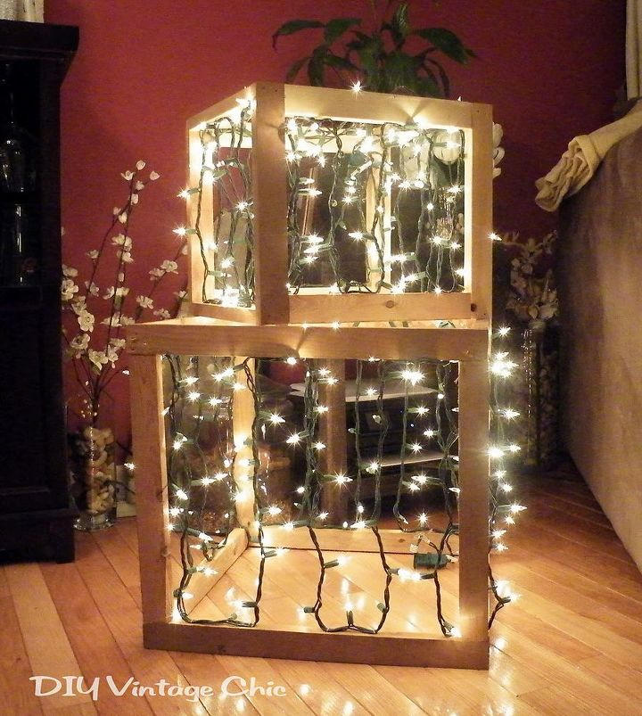outdoor lighted christmas presents crafts seasonal holiday decor