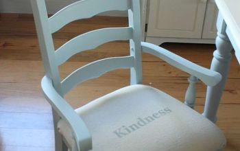transfer a graphic to fabric permanently, crafts, painted furniture, Another example of one of the four chairs
