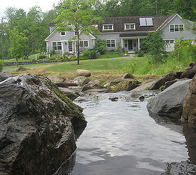 from drainage ditch to 175' waterfall, Lyme NH