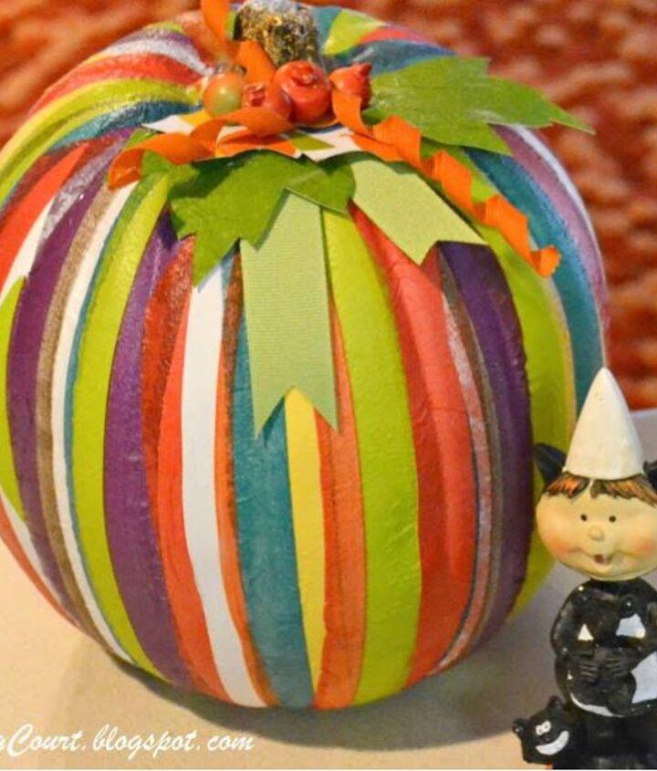 Striped pumpkins