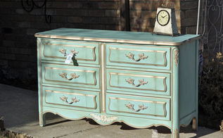dixie french provincial dresser makeover, painted furniture
