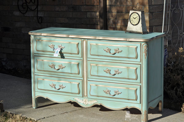 Dixie French Provincial Dresser Makeover Painted Furniture