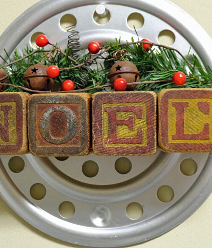 a vintage industrial christmas wall hanging, christmas decorations, crafts, seasonal holiday decor