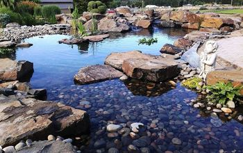 pond makeover on 15 year old pond installation, outdoor living, ponds water features, Where we ended
