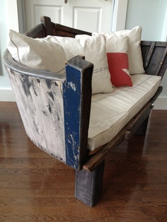 repurposed boats, home decor, outdoor furniture, outdoor living, painted furniture, repurposing upcycling, rustic furniture