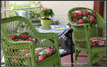 Back Porch Styling by Somewhat Quirky Design