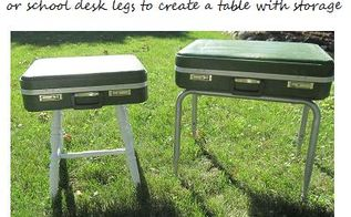 turn suitcases into side tables, painted furniture, repurposing upcycling