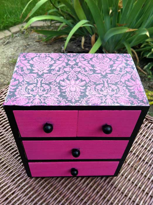 chest makeover, crafts, decoupage, painting, After view 1