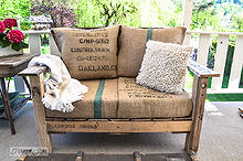 a two pallet chair anyone can build in a jiffy, diy, how to, outdoor furniture, painted furniture, pallet, repurposing upcycling, This quirky double wide sized pallet wood ch