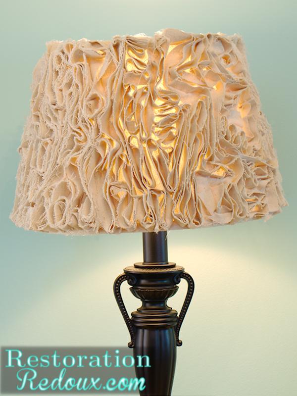 Ruffled lamp shade made from a drop cloth hometalk ruffled lamp shade made from a drop cloth crafts lighting aloadofball Choice Image