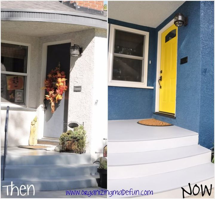 Before and after of front entry