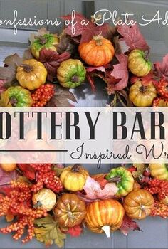 free pottery barn inspired fall wreath, crafts, repurposing upcycling, seasonal holiday decor, wreaths, A Pottery Barn copy cat with no money spent