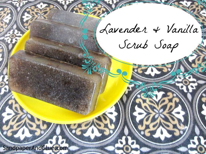 lavender and vanilla scrub soap, cleaning tips
