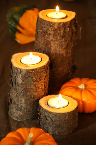 Easy Rustic Fall Candle Holder | Timeless Rustic Decor For Fall