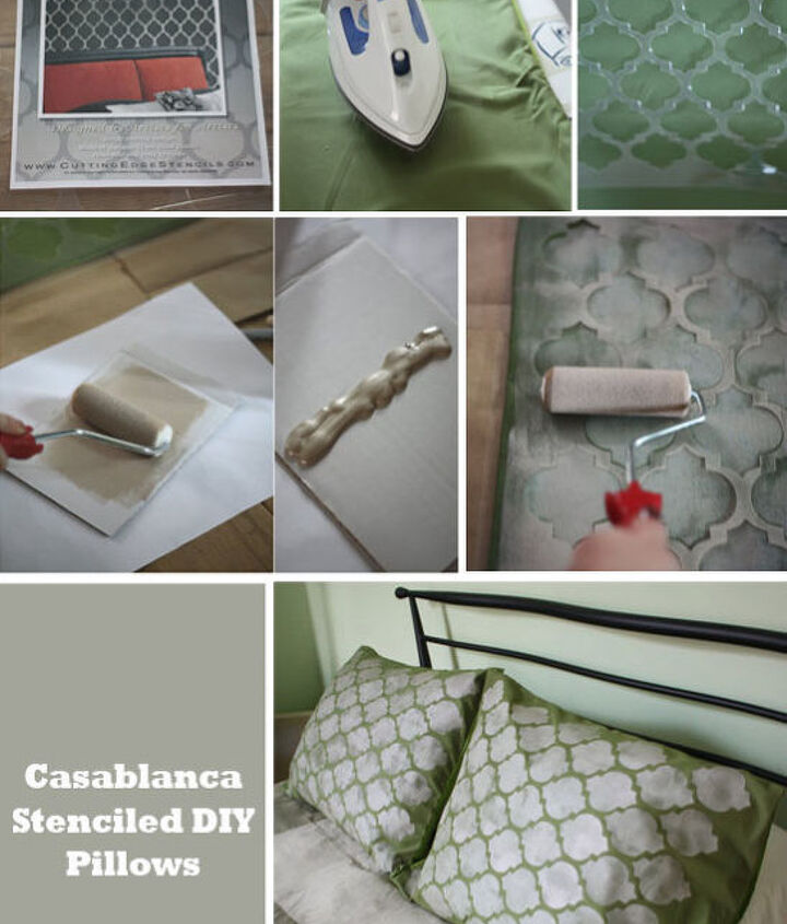 Casablanca Craft Stenciled Pillow Shams