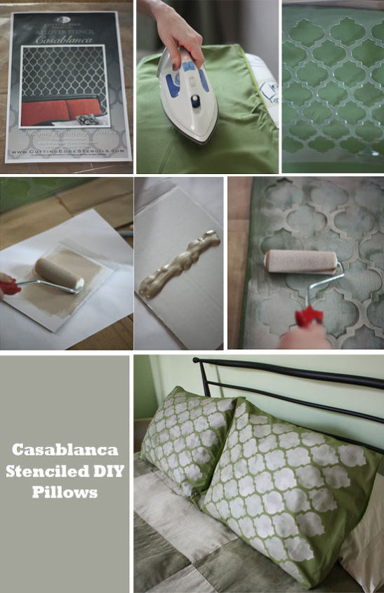 Casablanca Craft Stenciled Pillow Shams