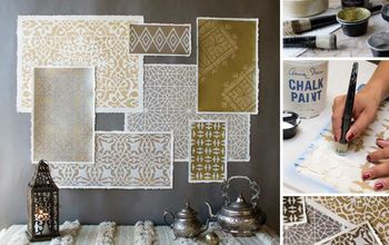 How to Stencil Moroccan Stencils in Metallics for Amazing Wall Art