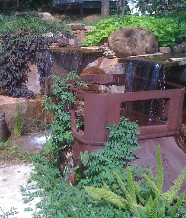 Pondless waterfall with a unique twist in Oklahoma.