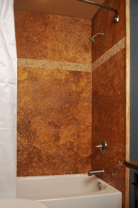 How would you like a stone shower without the challenges of tile ...