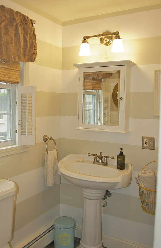 preppy striped bathroom photos, bathroom ideas, home decor, painting
