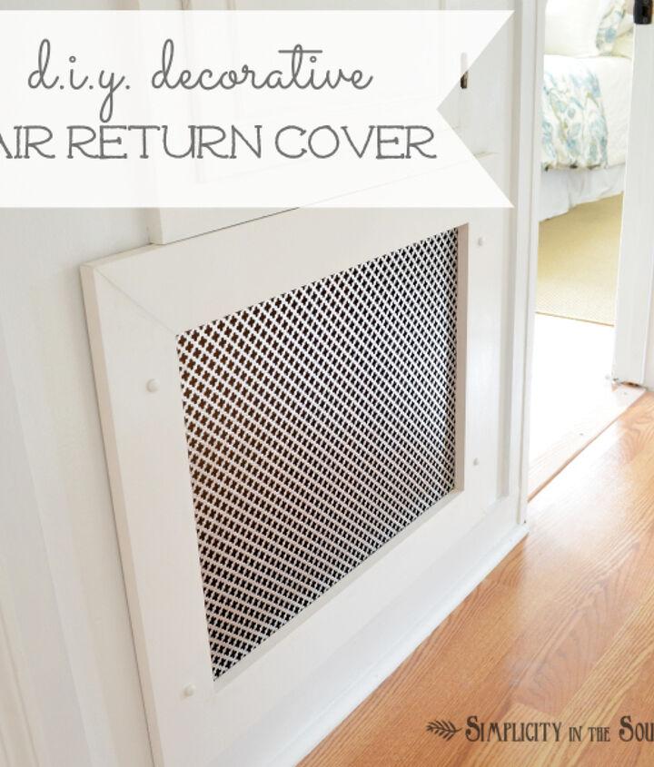 how to make a decorative air return vent cover, wall decor
