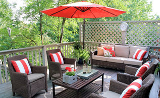 outdoor living room on the deck, decks, fire pit