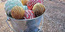 diy rope balls, seasonal holiday d cor