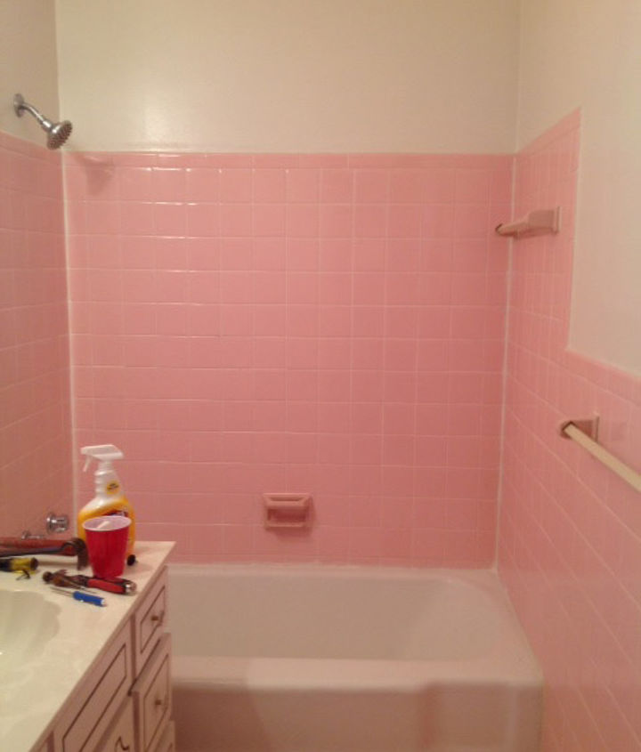pink tile bathroom ideas how do i remove the adhesive from 1950 s pink wall tiles 21283