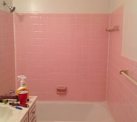 Q How Do I Remove The Adhesive From 1950 S Pink Wall Tiles, Bathroom Ideas