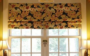 make your own no sew faux roman shade, diy, home decor, window treatments