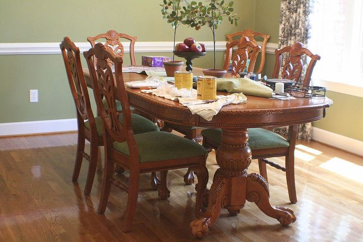 Dining Room table before spray paint.