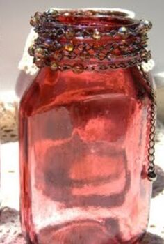 diy faux cranberry glass, crafts, decoupage, Once the Mod Podge and food coloring is dry the glass takes on a cranberry color