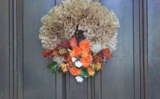 coffee filter wreath, crafts, wreaths