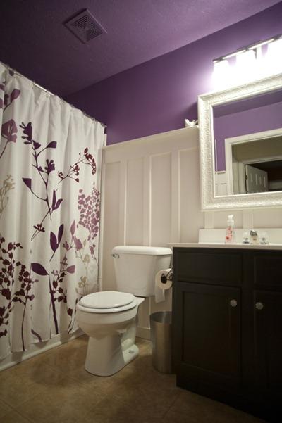Purple with Board & Batten bathroom