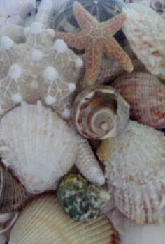 beachy cornice board, crafts, windows, Cornice board up close