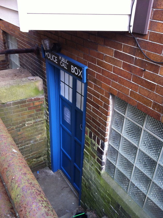 Doctor Who always parks his tardis in the most unusual places.  My husband LOVED IT!!!!  So did his geek friends. :)