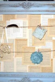 book page inspiration board, crafts, repurposing upcycling