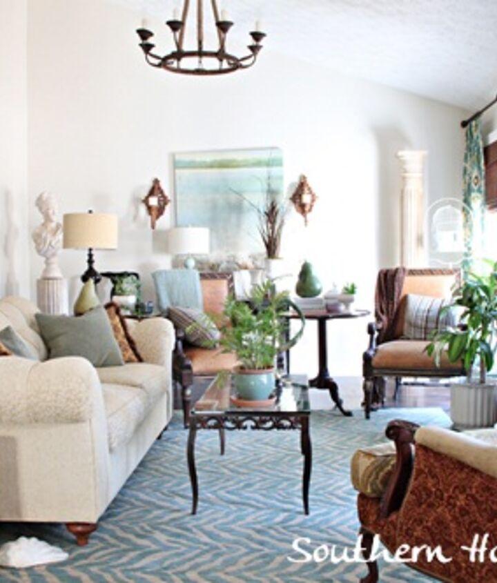 adding blues to the living room, home decor, living room ideas